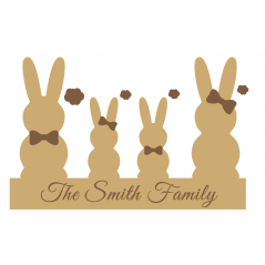 18mm Engraved Bunny Family Easter