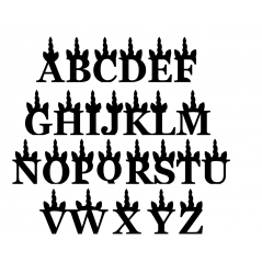 18mm Freestanding Unicorn Letters - Georgia Font Capitals 18mm MDF Letters and Numbers
