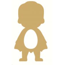 18mm Superhero with Cape (No eyes) Kinder or Cadbury Egg Holder Easter