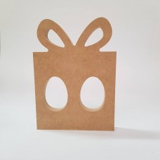 18mm Present Shape Double Kinder or Cadbury Egg Holder 18mm MDF Christmas