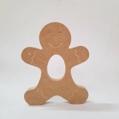 18mm Engraved Gingerbread Boy Kinder or Cadbury Egg Holder (blank or engraved)