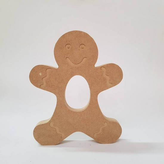 18mm Engraved Gingerbread Boy Kinder or Cadbury Egg Holder (blank or engraved) 18mm MDF Christmas