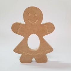 18mm Engraved Gingerbread Girl Kinder or Cadbury Egg Holder (blank or engraved) 18mm MDF Christmas