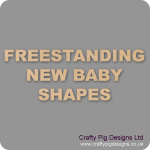 18mm MDF New Baby Craft Shapes