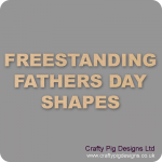 18mm MDF Father's Day Craft Shapes
