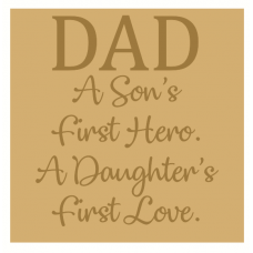 18mm Engraved Plaque Dad A Son's First Hero.... Fathers Day