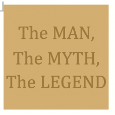 18mm Engraved Plaque the Man, The Myth, The Legend Fathers Day