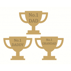 18mm Engraved Trophy Fathers Day