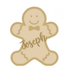 18mm Layered Fillable Gingerbread Boy Shape with name Personalised and Bespoke