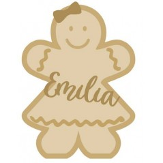 18mm Layered Fillable Gingerbread Girl Shape with name Halloween