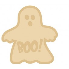 18mm Layered Fillable Ghost Shape with name Halloween
