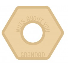 18mm Layered Fillable Nut with name Fathers Day
