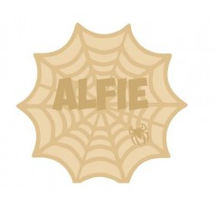 18mm Layered Fillable Spiders Web Shape with name and spider Halloween