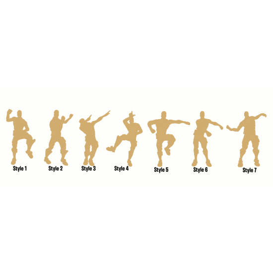 18mm Dance Shapes with Joined Letter 18MM MDF