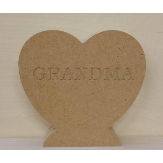 18mm Heart Engraved With Mum (variations available) Mother's Day