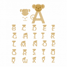 6mm 3D Monkey Letters 3, 4 and 6mm Letters & Numbers