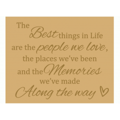 18mm Engraved Plaque - The Best things in Life, are the people we love Mother's Day