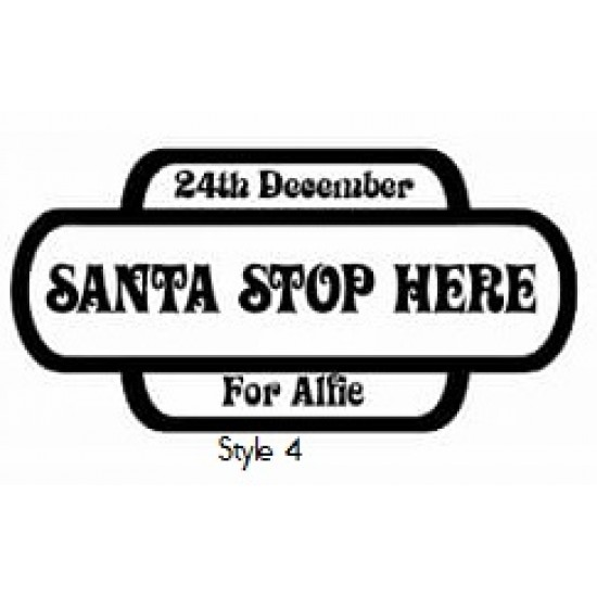 4mm Small 3 Row Railway Sign Santa Stop Here Personalised and Bespoke