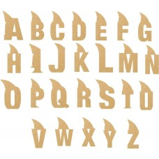 18mm Shark Letter 18mm MDF Letters and Numbers