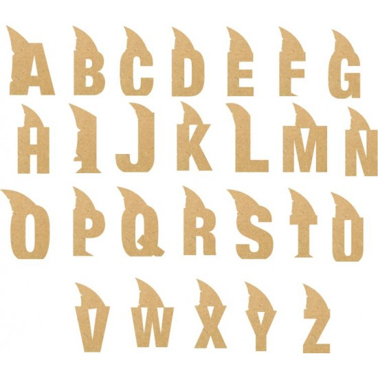 6mm mdf Shark Letters  3, 4 and 6mm Letters & Numbers