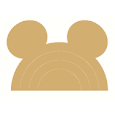 18mm MDF Stacking Rainbow with Mouse Ears 18mm MDF Craft Shapes