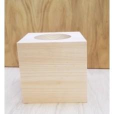 90mm Cube Block Pencil Pot Wooden Blocks, Tea Lights and Stacking Block Sets