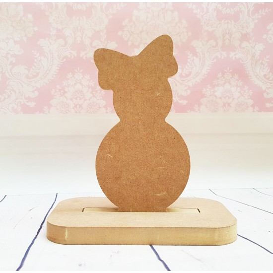 18mm Bow Top Snowgirl  Shape Stocking Hanger Christmas Shapes