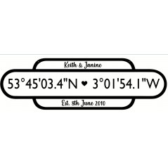 4mm Large 3 Row Coordinates Sign (hanging version)(railway Sign)