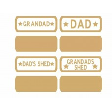4mm Father's Day Street Sign Quotes & Phrases