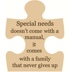 18mm Engraved Jigsaw - Special Needs - doesn't come with a manual 18mm MDF Engraved Craft Shapes