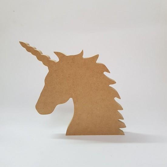 3mm mdf Unicorn Head Basic Plaque Shapes