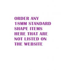 18mm Standard Shape (Not listed on website) - Random 18mm Shapes 18mm MDF Craft Shapes