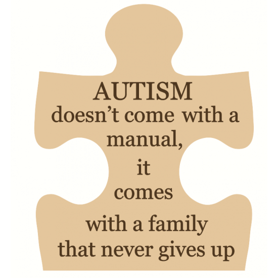 18mm Engraved Jigsaw - AUTISM - doesn't come with a manual 18mm MDF Engraved Craft Shapes
