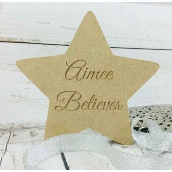 18mm Anyname Star Believes Personalised and Bespoke
