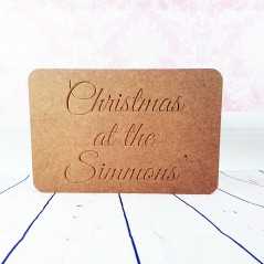 18mm Engraved Christmas at the sign Personalised and Bespoke