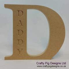 18mm Freestanding D With Daddy Engraved Fathers Day