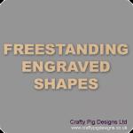 18mm MDF Engraved Craft Shapes