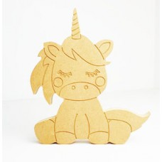 18mm Engraved Sitting Unicorn 18mm MDF Craft Shapes
