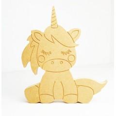 18mm Engraved Sitting Unicorn 18mm MDF Craft Shapes