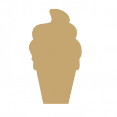 18mm Ice Cream Cone 18mm MDF Craft Shapes