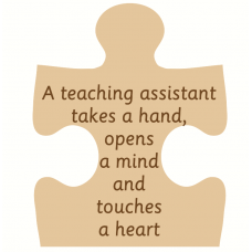 18mm Engraved Jigsaw - A Teacher/Teaching Assistant/Mentor Touches a Hand... Teachers