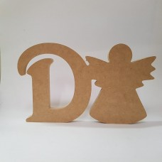18mm Freestanding Angel and Letter 18mm MDF Craft Shapes