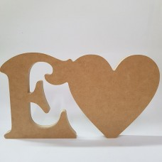 18mm Freestanding Heart and Letter