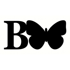 18mm Freestanding Butterfly and Letter