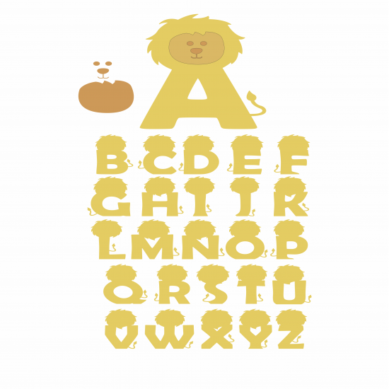 18mm 3D Lion Letters 18mm MDF Letters and Numbers