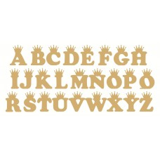 6mm mdf Crown Letters (COOPER FONT) 3, 4 and 6mm Letters & Numbers
