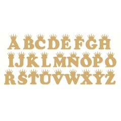 3mm mdf Crown Letters (Cooper Font)