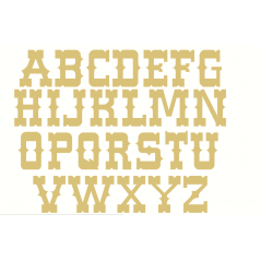 18mm Freestanding Cowboy Font Letters 18mm MDF Letters and Numbers