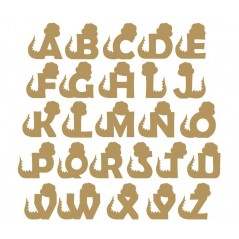 3mm mdf Dinosaur Letters (FRONT FACING)