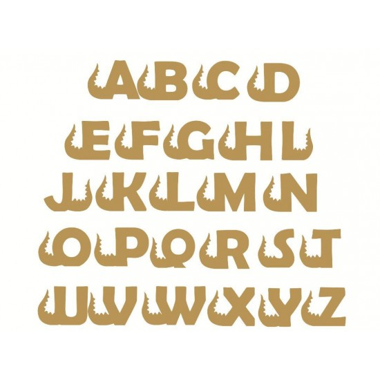 6mm mdf Dinosaur Tail Letters (no head) 3, 4 and 6mm Letters & Numbers